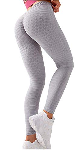 Angcoco Women's High Waisted Tummy Control Workout Yoga Leggings Pants
