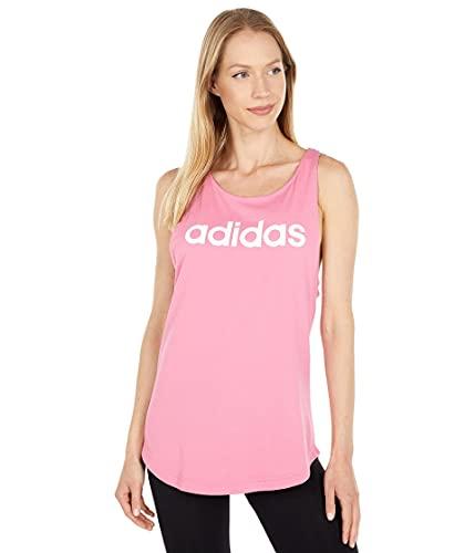 adidas Essentials Loose Logo Tank Top Camisa, Rosa/Blanco, XL para Mujer