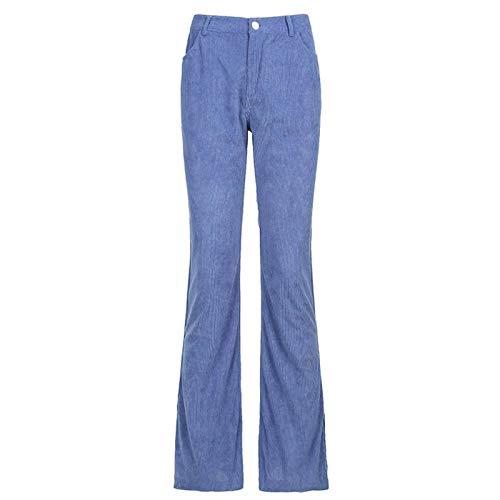 qiulanjia Pantalones de Mujer Ins Estilo Europeo y Americano Pantalones de Pana marrón Y2K Retro con Cordones Pantalones Delgados de Cintura Alta para Mujer 90s