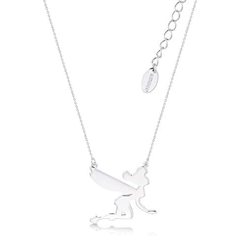 Disney Tinker Bell - Collar de Campanilla chapado en oro blanco