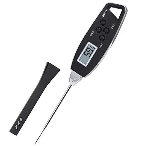Rehomy Termómetro de lectura rápida, impermeable, digital, termómetro de alimentos, para cocina, barbacoa, horneado