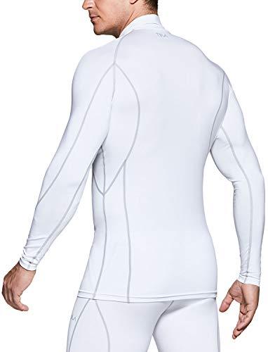 (テスラ)TESLA長袖ハイネックコンプレッションシャツ冷感スポーツウェア[UVカット・吸汗速乾]コンプレッションウェアランニングウェアスポーツシャツMUT32-WHT_2XL