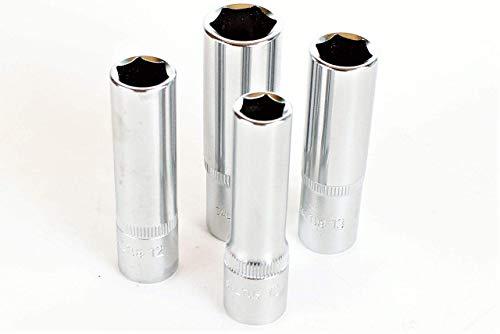 SALTUS 3/8' dopsleutelset 10-15 mm professionele moer CV 4-delige set