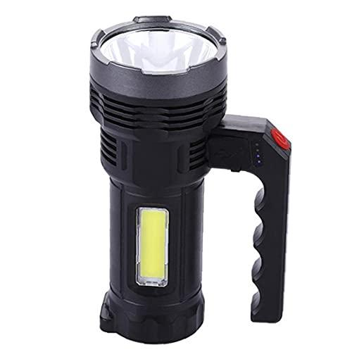 NIDONE Torcia LED Portatile Impermeabile Palmare USB Torcia Solare 4 Modalità Campeggio Searchlight