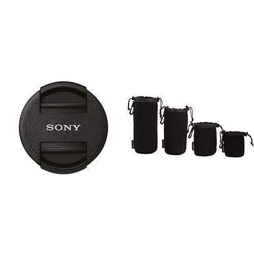 Sony ALC-F405S Vordere Objektivklappe für SEL-P1650 schwarz Amazon Basics - Wasserdichte Schutzbeutel für Kamerobjektiv