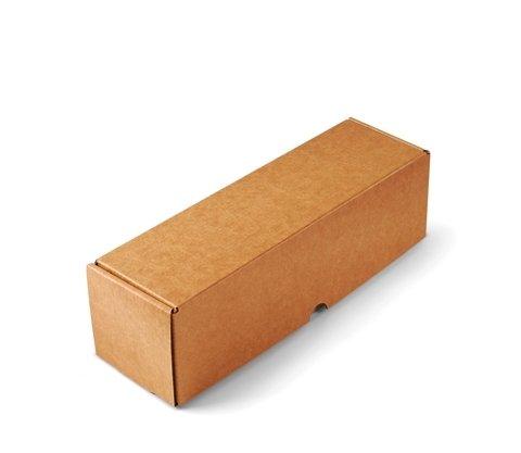 Selfpackaging Caja para envíos Alargada en microcanal Color Kraft Muy Resistente. Envia Botellas. Pack de 50 Unidades. - M