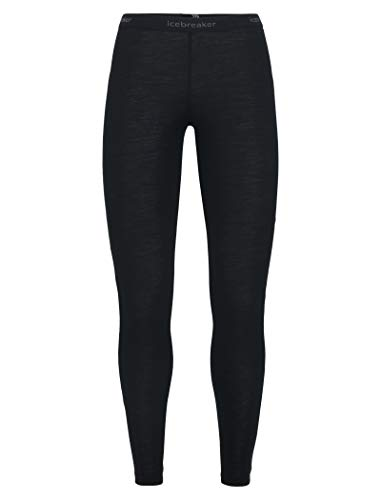 Icebreaker Wmns 175 Everyday Merino Baselayer Leggings, Schwarz (Black), M