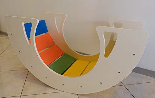 Montessori - Balancín para niños de madera para estimular el crecimiento y la imaginación de los niños (80 x 44 cm)