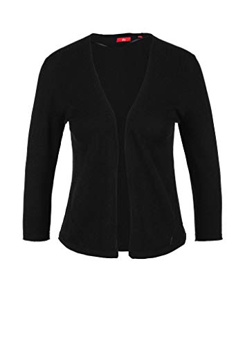 s.Oliver RED Label Damen Cardigan mit Lochmuster-Details Black 40