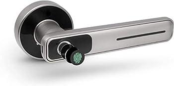 Geek Smart Fingerprint Door Lock - Biometric Door Knob Keyless Entry Door Locks for Homes/Apartments/Office/AirBnB/Hotels  Silver