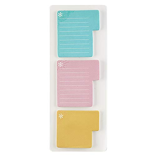 Erin Condren Designer Accessories - Tabbed Sticky Notes, 60 Count, 3 Colors (Blue, Pink, Orange). Great for Organizing Your Notebooks, Planners, or Agendas