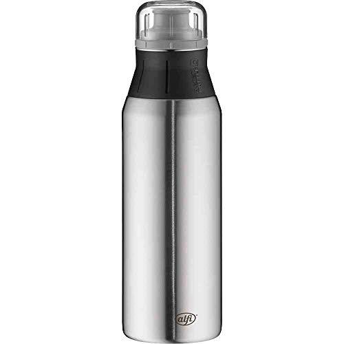 alfi Edelstahlflasche elementBottle Pure steel, Trinkflasche Edelstahl 900ml, auslaufsicher, spülmaschinenfest, 5357.214.090 BPA Frei, Flasche für Wasser, Saft, Tee, Softdrinks, toGo oder im Büro