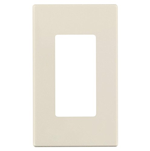 Leviton C36-80301-0st Light Almond 1 Gang Screwless Decora Wall Plate