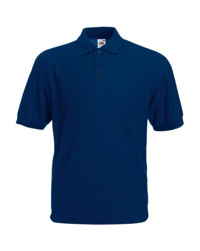 FRUIT OF THE LOOM Herren 65/35 Poloshirt, Marineblau, Größe M
