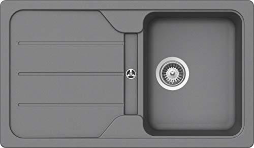 SCHOCK Küchenspüle 86 x 50 cm Formhaus D-100 Croma - CRISTALITE Granitspüle ab 45 cm Unterschrank-Breite