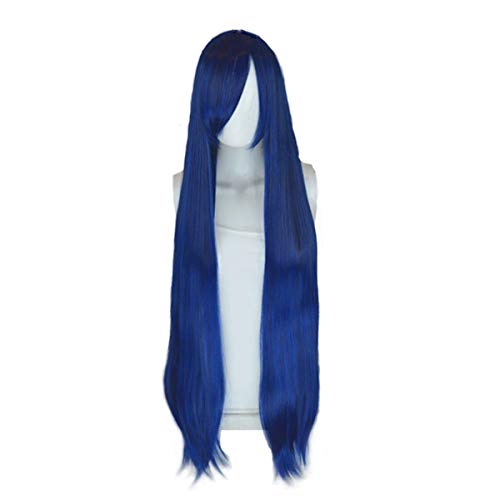 "Epic Cosplay Persephone Blue Black Fusion 40""Natural Synthetic Anime Costume Long Straight Cosplay Wig Party Wig"