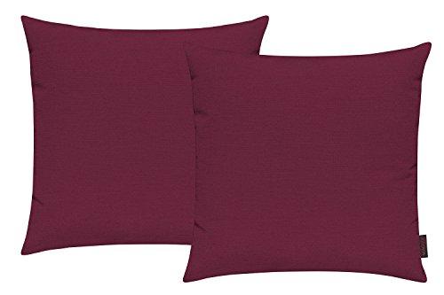 Fino Kissenhülle ca. 50 x 50 cm hochwertig & knitterarm Farbe 50 Rot (2er Set)