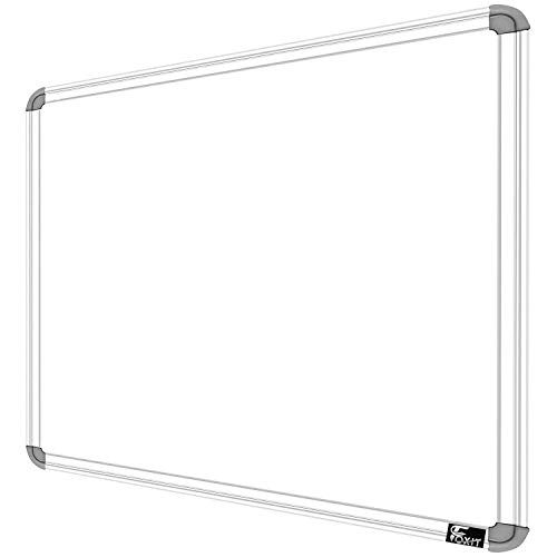 Foxit White Marker Board 2X2 Feet Non Magnetic Double Sided White Board and Chalk Board Both Side Writing Boards, one Side White Marker and Reverse Side Chalk Board Surface - Pack of 1