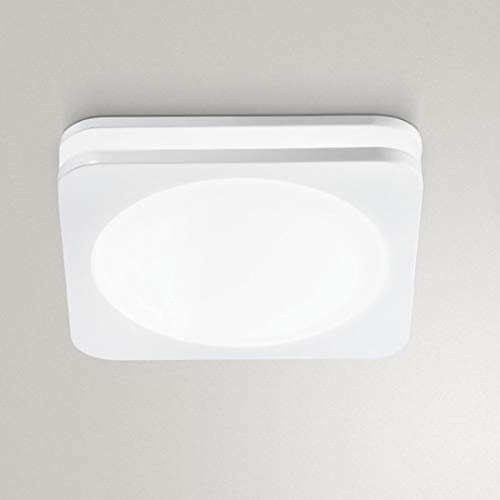 Faretto Incasso Alluminio Pvc Gea Led Gfa810 Led Spot Quadrato Bianco Moderno 10w 100° 3000°k 4000°k Ip20, 4000°k (luce naturale)