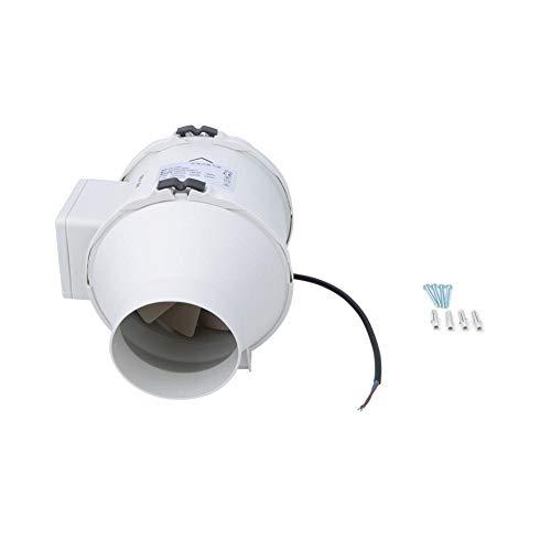 Jectse Silence Inline afvoerventilator, 5 inch (5 inch) met hoge/laag toerental, afvoerventilator, schuine luchtstroom, ventilatie, voor kantoor in de woonkeuken, werkplaats, 2200 omw/min