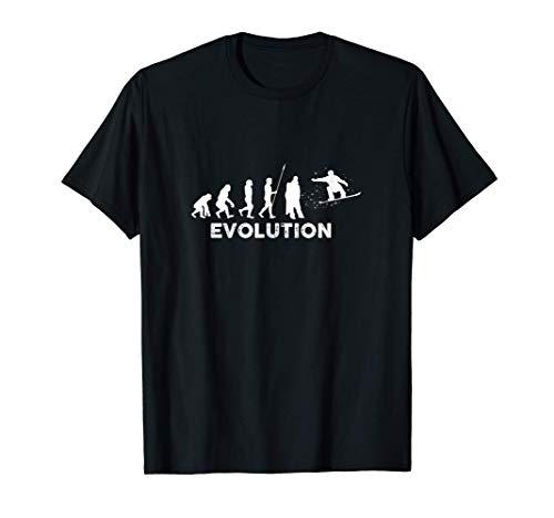 Evolution Snowboarder Wintersport Ski Design | Mann Frau T-Shirt
