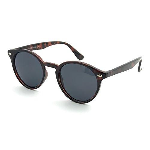 KISS Sonnenbrille POLARISIERT stil MOSCOT mod. WAVE ICONIC - Johnny Depp mann frau RUNDEN vintage - HAVANNA