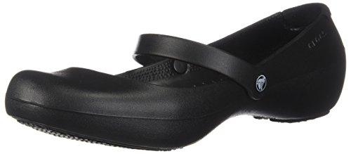 crocs Women's Alice Mary Jane Flat,Black,7 M US