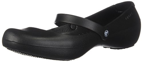 crocs Women's Alice Mary Jane Flat,Black,9 M US