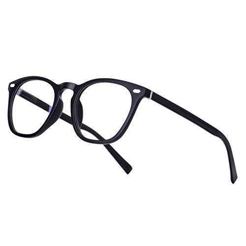 Vimbloom Occhiali Antiriflesso Anti Filtro Anti Eyestrain Luce Blu Per UV Gaming Computer Uomo Donna(581 Nero Opaco)