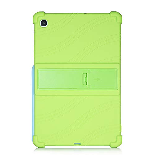 Oneyijun Green Stand Silicone Skin Pouch Protection Case Protective Cover Case for Samsung Galaxy Tab S6 Lite P610 P615 10.4 inch Tablet