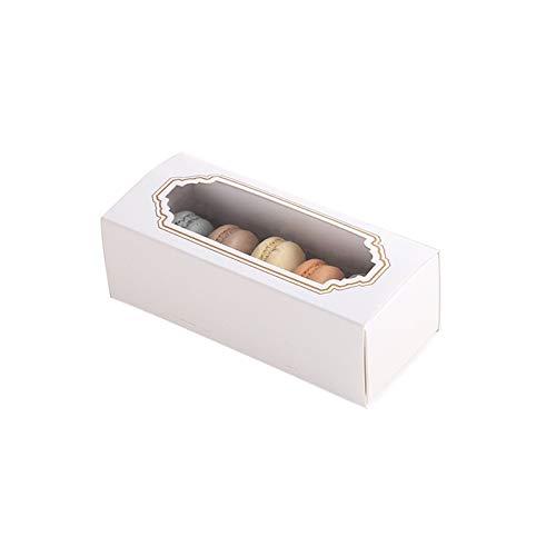 XIZHOUCUN Paquete de horneado Caja de cajón Papel Papel Pastel Macarrones Galletas Galletas Empaquetado Caja Ventana Regalo de Fiesta de Boda Caja de Regalo (Gift Box Size : 15.5x6.5x5.2cm)