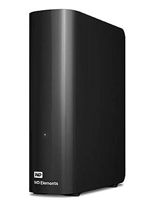 WD 10 TB Elements Desktop External Hard Drive - USB 3.0, Black