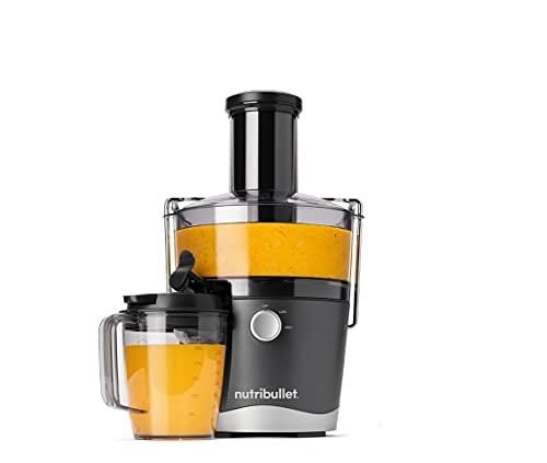 NutriBullet Juicer 800W Entsafter mit 1,5l Behälter - 800ml Saftkrug mit Deckel - 9 teiliges Set - Obst, Gemüse - 2 Geschwindigkeitsstufen - breiter Einfüllschacht