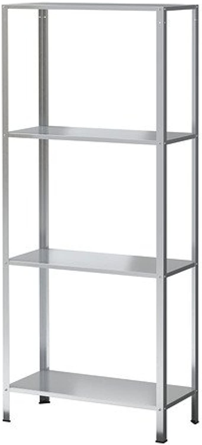 Hyllis Shelving Unit Galvanized Indoor Outdoor Height  55 1 8