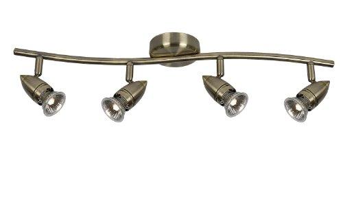 Lucide CARO - Spot Plafond - Ø 10 cm - GU10 - 4x50W 2700K - Bronze 03