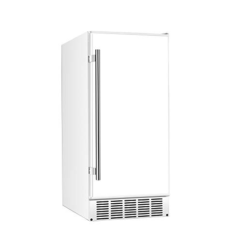 EdgeStar IB250WH 15 Inch Wide 20 Lb. Built-In Ice Maker with 25 Lbs. Daily Ice Production - No Drain Required