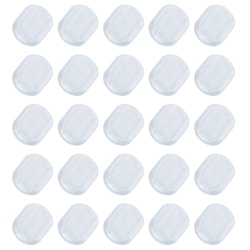 PH PandaHall 200pcs Clear Earring Cushions Earring Clip Pads Plastic Earring Pads for Clip on Earring