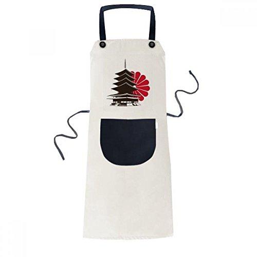 BeatChong Japonés Crisantemo Y La Cocción De La Cocina Templo Babero Ajustable Amarillento Regalo Mujeres Bolsillo Del Delantal Del Cocinero Hombres
