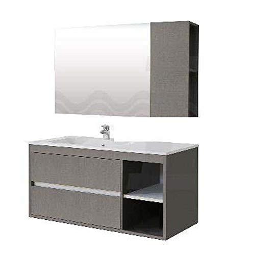 Waschbecken Mineral Marmor 105 x 51 Sx für Badezimmermöbel Serie ENEA Zum Zusammenstellen