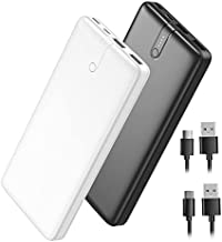 2-Pack IEsafy 20000mAh Portable Charger Power Bank with Dual USB Output, Fast Charging External Battery Pack USB-C Input, Backup Battery Charger for iPhone X Samsung Galaxy S10 Google LG AirPods etc