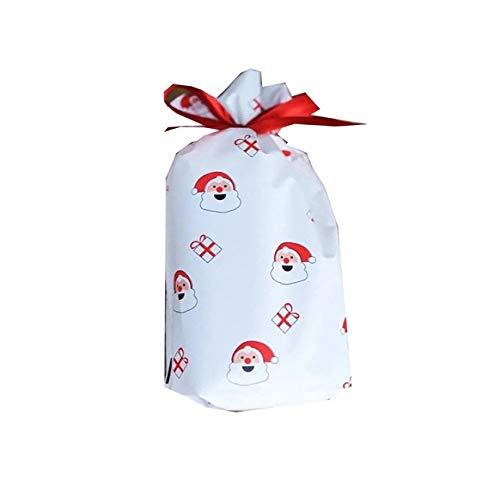 niawmwdt 10-delig/los kousen zakken Vrolijk Kerstmis hertenbeer koordsluiting verpakking zakken Halloween Cookie snoepgoed zakken navidad-in kousen; cadeauhouder van thuis uit;