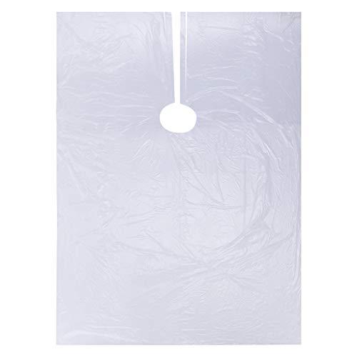 ODJOY-FAN Friseurumhänge 50Pcs Einwegumhänge Haar Salon Umhänge Waschen Pads Shampoo Kap Barbier (Weiß, 50PC)