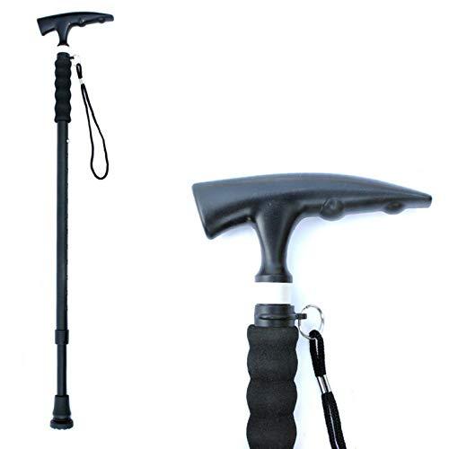 Folding Cane - Lightweight Foldable Walking Stick for Men & Women - Adjustable & Durable for Portable Travel- Collapsible Balancing Mobility Aid - Sleek Ergonomic & Comfortable Handles (Black)