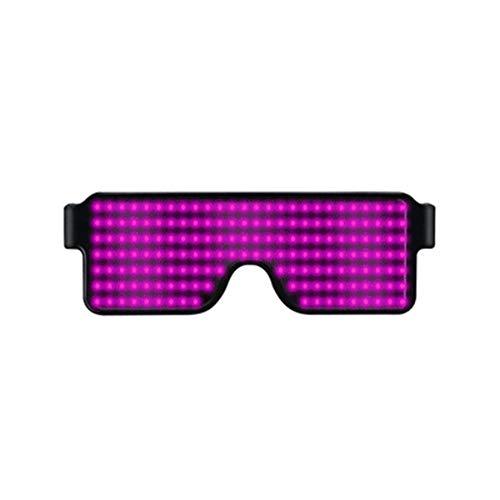 Luminous Flashing Shutter Neon Brille AIMMMY Led Gl/äser Bluetooth-LED Party Brille Multicolor LED Leuchtgl/äser Mit APP-Steuerung F/ür Party Weihnachten Geburtstag