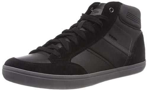 Geox Herren U Box E Hohe Sneaker, Schwarz (Black/Anthracite C9270), 42 EU
