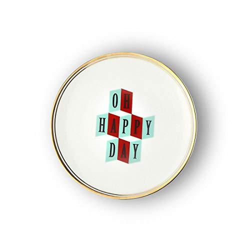 BITOSSI Home & Funky Table LA COMPOSTA, Teller OH Happy Day Ø 17 cm