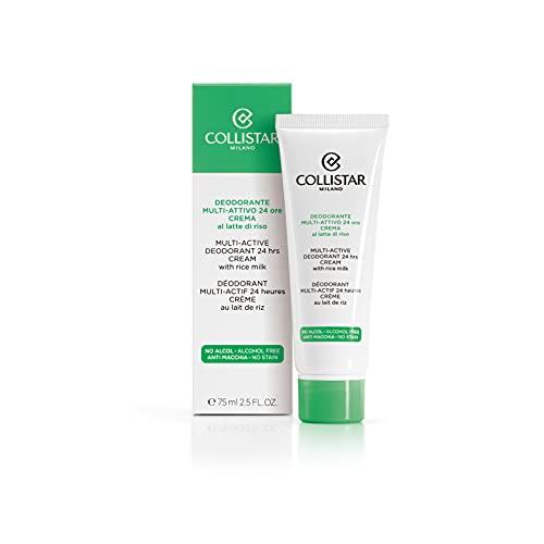 Collistar Deodorante Multi-attivo Crema 24 Ore, Crema Corpo nutriente e lenitiva con funzione deodorante a lunga durata, Con latte di riso, Perfetta dopo la depilazione, 75 ml