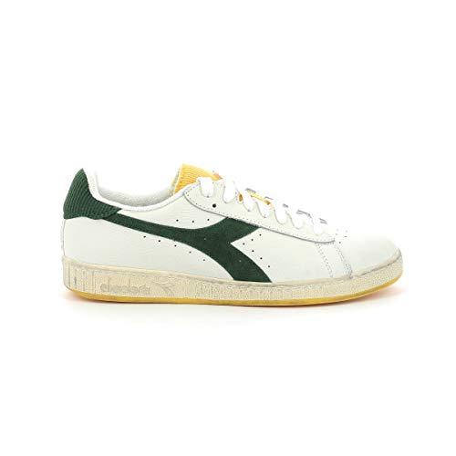 Diadora Game L Low Icona Sneaker Uomo 501.177359 C9126 Bianco Verde Fogliame Giallo Cardellino