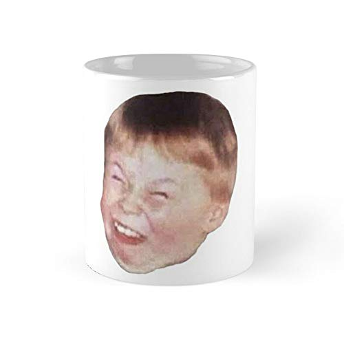 Little Kid Redhead Fat Laughing Mocking Funny Meme Face Coffee Mug 11oz & 15oz Ceramic Tea Cups