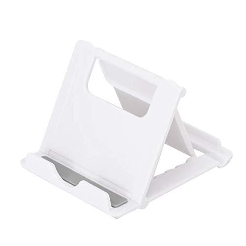 Sylvialuca Verstellbarer Tablet-Ständer Klappbar Lazy Video Bracket Handy Tablet Desktop Faltbarer Ständer für Pads Handys weiß
